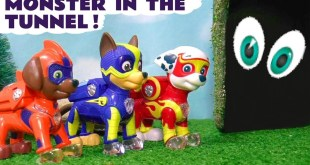 Paw Patrol Mighty Pups Mystery Tunnel Monster Rescue with DC Comics The Joker Full Episode