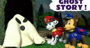Spooky Ghost Challenge with Paw Patrol as they meet DC Comics Batman while playing Hide and Seek