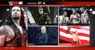 WWE 2K16 PS4/XB1 Full Main Menu Reveal & All Match Types (OFFICIAL)