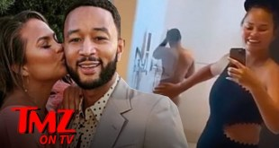 Chrissy Teigen Shares Sneaky Video of John Legend Showering | TMZ