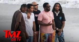 Diddy Hits Beach in Malibu with Nas, Travis Scott, Quavo & Swizz Beatz | TMZ