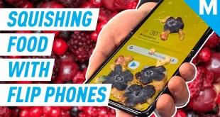 Squishing Food With MOTO RAZR & Z FLIP In SLO-MO | Mashable