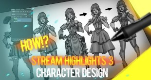 Stream highlights 4: Comic Character concept art