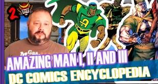 AMAZING MAN I, II AND III - DC COMICS ENCYCLOPEDIA - TWO SAMURAIS]