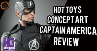 Hot Toys Concept Art Captain America Toy Fair Exclusive Review #HotToys #CaptainAmerica #toyfair