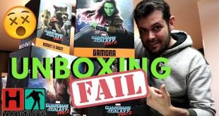 UNBOXING con FAIL!!!!! Guardianes De La Galaxia por IRON STUDIOS - Habi Toys