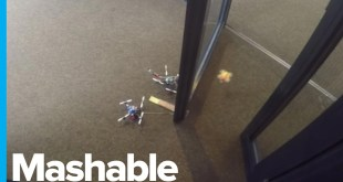 Drones Cooperate to Open a Door and Hold It Open for Their Friend