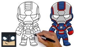 How To Draw Iron Patriot | Marvel Comics