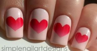 Valentine's Day Heart Nail Art Tutorial