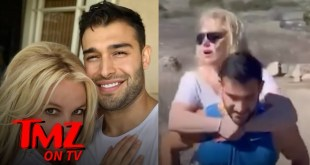 Britney Spears Goes On A Piggyback Ride On Her Boyfriend | TMZ TV