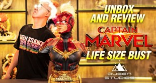 Captain Marvel Life Size Bust by Queen Studios Unbox and Review