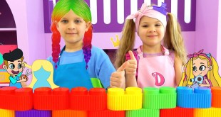 Diana and Roma Rainbow Hair Cartoon Adventure