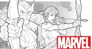How to Draw BOTH Hawkeyes w/ Logan Lubera!