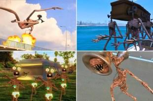 Coffin Dance & Siren Head Horror Films |  Fan Art Memes #2