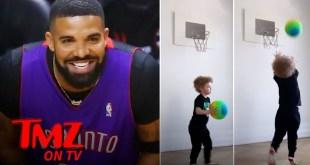 Drake's Son, Adonis, Is Already A Baller! | TMZ TV