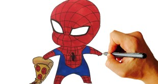 How to Draw Spiderman Chibi From Marvel Characters Easy Step by Step Video Lesson