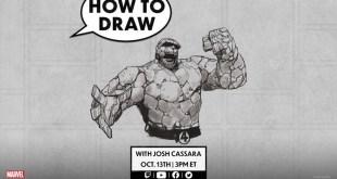 How to Draw THE THING w/ Joshua Cassara! | Marvel Live!