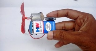 How to Make Homemade Mini DC Motor FAN with 9 Volts Battery |   9 Volts Battery Projects at home
