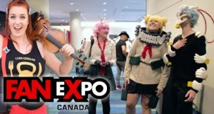 Violin girl surprises cosplayers with their themes!! FAN EXPO 2018