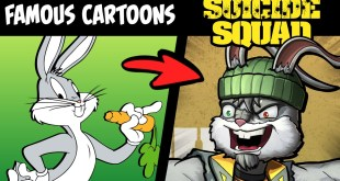 What if FAMOUS CARTOONS Were on The SUICIDE SQUAD?! (Stories & Speedpaint)
