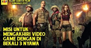 Aksi 4 Remaja Terseret Kedalam Video Game - ALUR CERITA FILM Jumanji Welcome To The Jungle