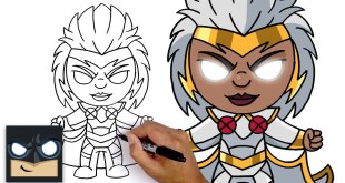 How To Draw Storm | Fortnite Marvel Heroes