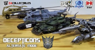 Alt Mode Decepticons - KO Oversized Assembled | Transformers Movie Collection