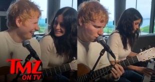 Ed Sheeran Teases New Song with Courtney Cox | TMZ TV
