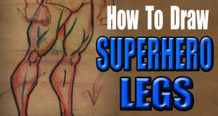 How to Draw Superhero Legs