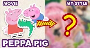 [Engsub] How To Draw PEPPA PIG | Semi Realistic Style | Huta Chan