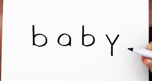 How To Draw A Baby Using The Word Baby - Drawing doodle art on paper