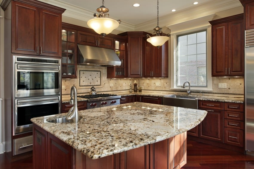 Most Popular Granite Colors for Countertops (White, Red ... on What Color Cabinets With Black Granite Countertops  id=46730
