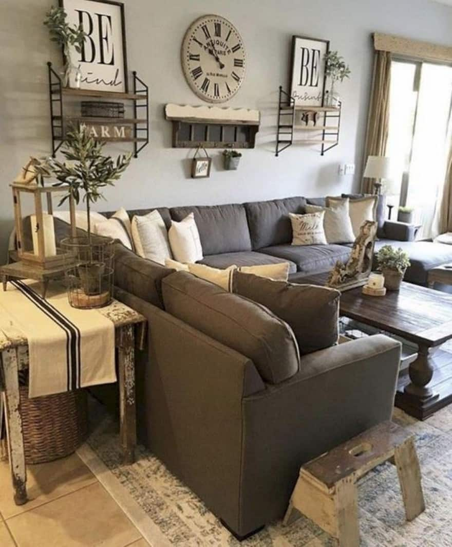 25 Modern Farmhouse Living Room Design Ideas - Decor with ... on Farmhouse Living Room Curtains  id=64057