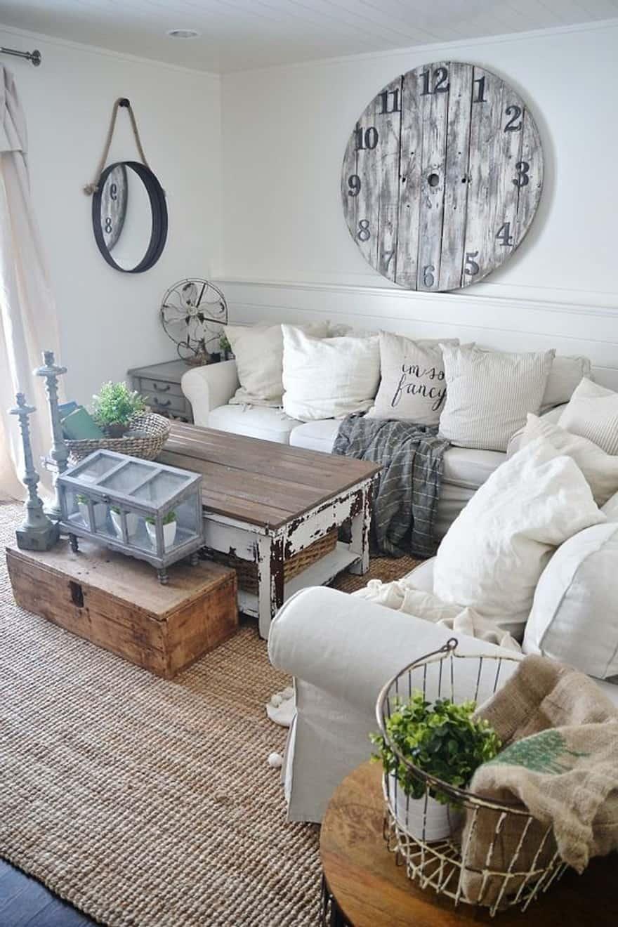 25 Modern Farmhouse Living Room Design Ideas - Decor with ... on Farmhouse Living Room Curtains  id=94662