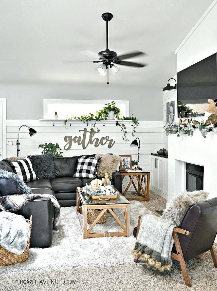 25 Modern Farmhouse Living Room Design Ideas - Decor with ... on Farmhouse Curtains Ideas  id=25185