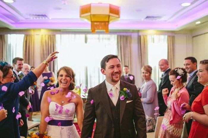Creative documentary wedding photographer Merchant Hotel Belfast