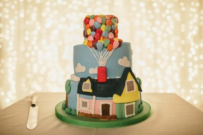 Up Themed wedding cake