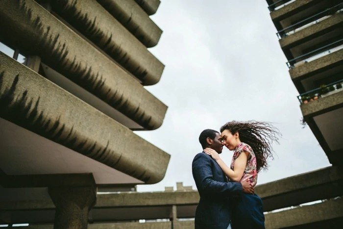 London engagement photographer The Barbican