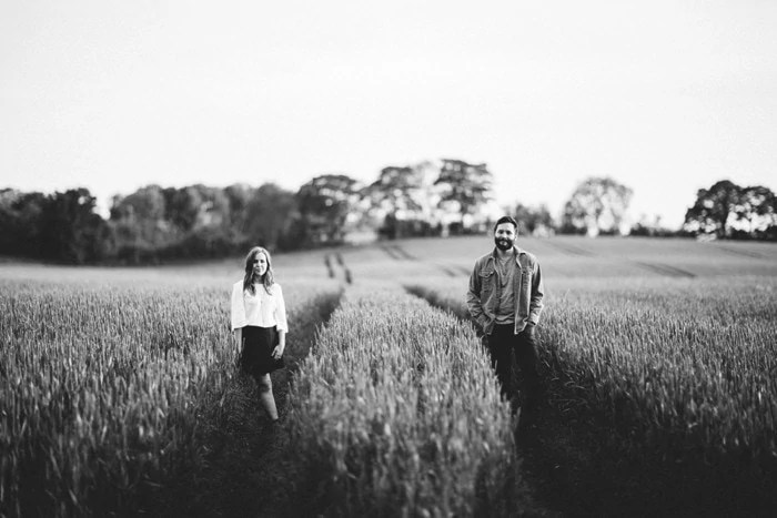 Sunny wheat field  engagement photography Northern Ireland