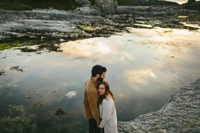 Ballintoy Harbour engagement photos Northern Ireland