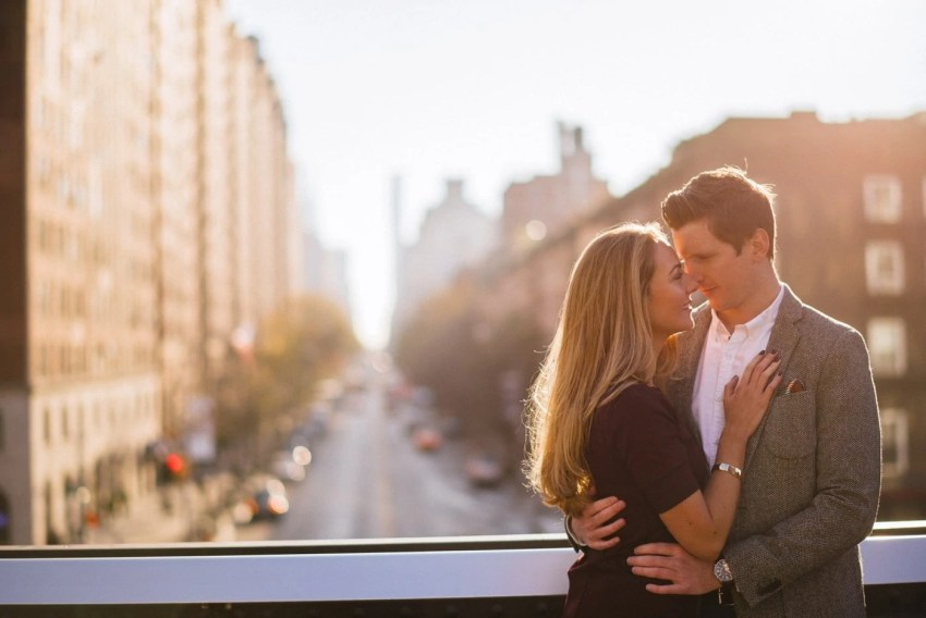 NYC The High Line Engagement Photos New York City Wedding Photographer