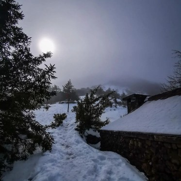 Snow in Madeira island