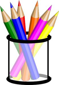 PENS AND CRAYONS