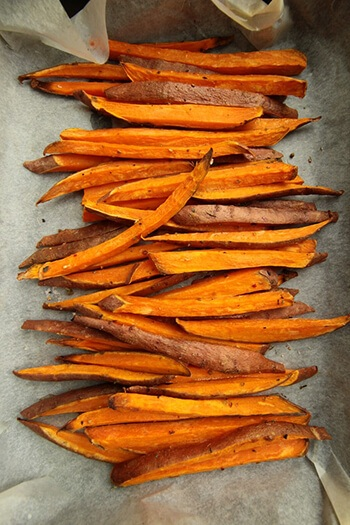 Sweet potato contains four grams of fibre, as well as natural laxatives like pectin and cellulose