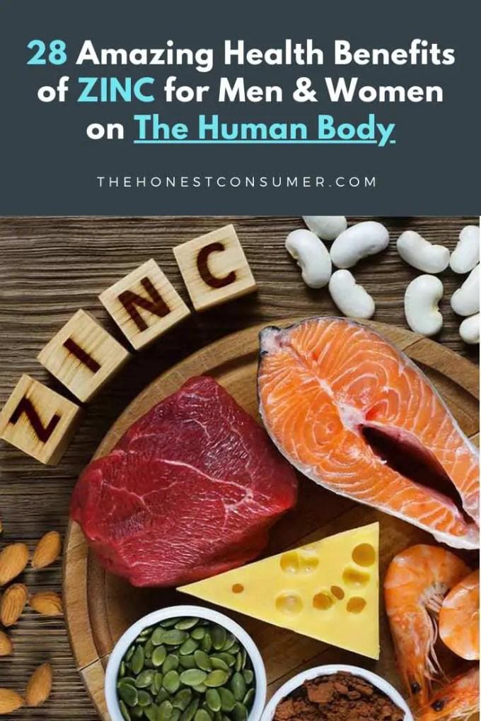 amazing health benefits of zinc