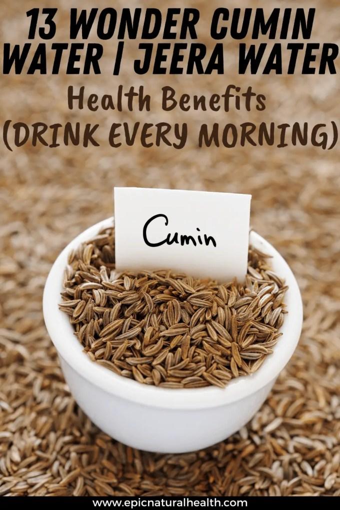 cumin water health benefits