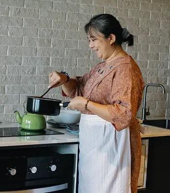 heat water in a saucepan and add jeera