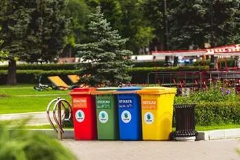 deodorize garbage bins using tea bags