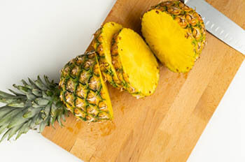 pineapple cut into sections