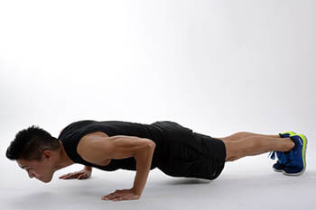 a person doing pushups